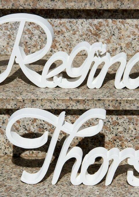 Dekoration | momentArtDeko | Namensschriftzug Hochzeitsdeko