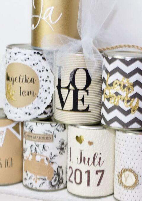 Dekoration | WeddingCansdeborina | Wedding Cans Blechdosen