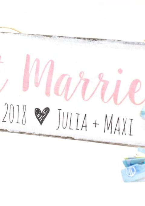Dekoration | WeddingCansdeborina | Just Married Holzschild