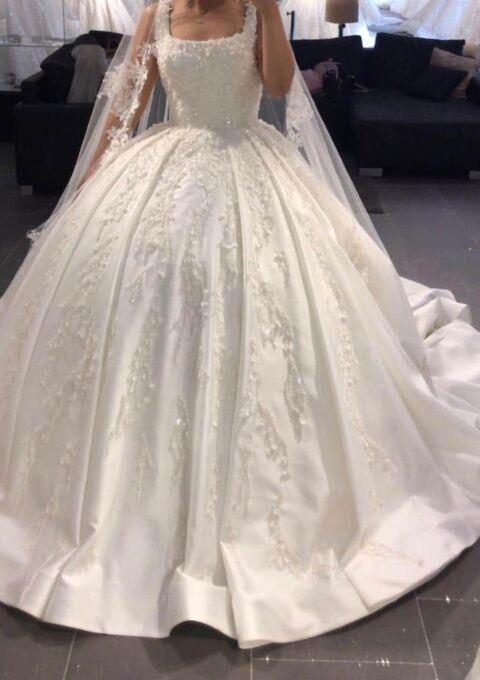 Second Hand Brautkleid   Einzelanfertigung   Prinzessin   Gr. 36   Maßgeschneidert