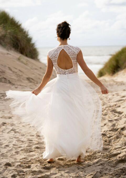 Brautkleid | ClaudiaHellerMode | Merida | A-Linie | Boho | Standesamt | Maßgeschneidert