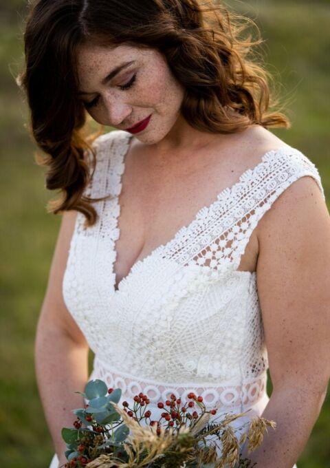 Brautkleid | ClaudiaHellerMode | Talia | Boho | Standesamt | Maßgeschneidert