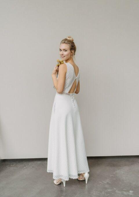Brautkleid | ClaudiaHellerMode | OLIVIA | A-Linie | Boho | Standesamt