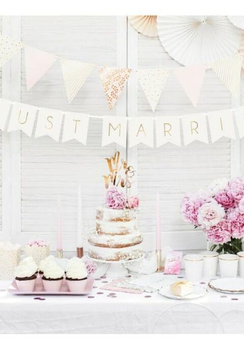 Dekoration | PrincessBalloon | 6x Just Married Ballons weiß