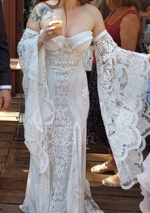 Second Hand Brautkleid   Rue de Seine   Adara Gown   Boho   Gr. 38   Maßgeschneidert
