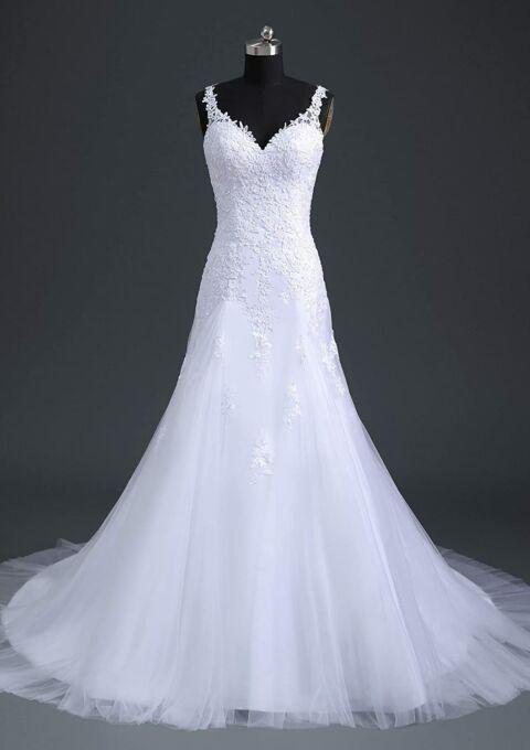 Brautkleid   Romantic Fashion   W105   A-Linie