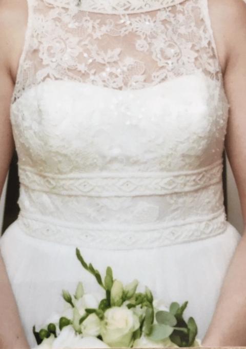 Second Hand Brautkleid | Rosa Clara | A-Linie | Gr. 38