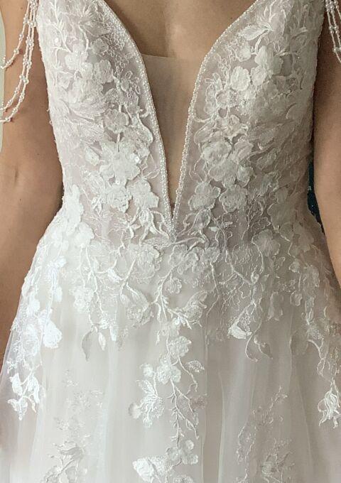 Second Hand Brautkleid | Lina Becker | A-Linie | Gr. 38 | Maßgeschneidert