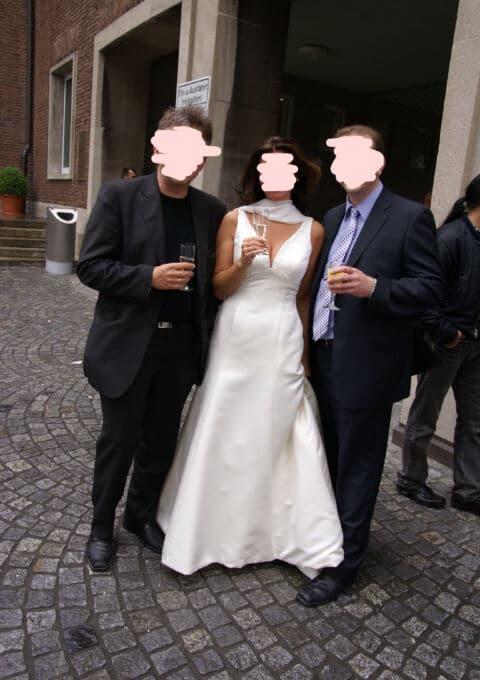 Second Hand Brautkleid | La Sposa / St. Patrick / Pronovias | A-Linie | Gr. 38