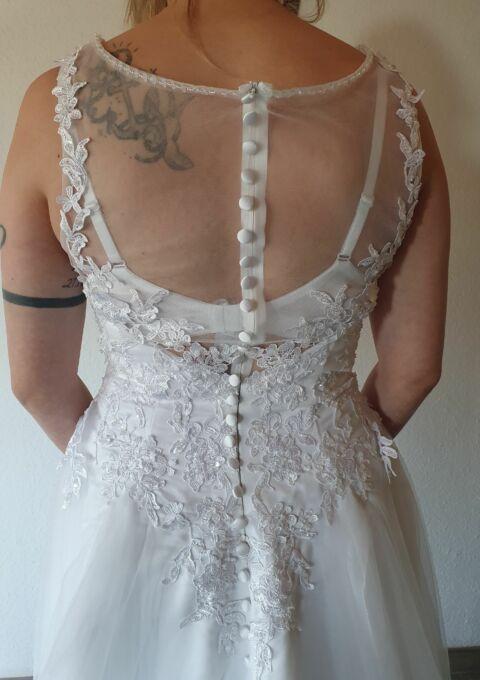 Second Hand Brautkleid   Einzelanfertigung   A-Linie   Gr. 38   Neu & ungetragen