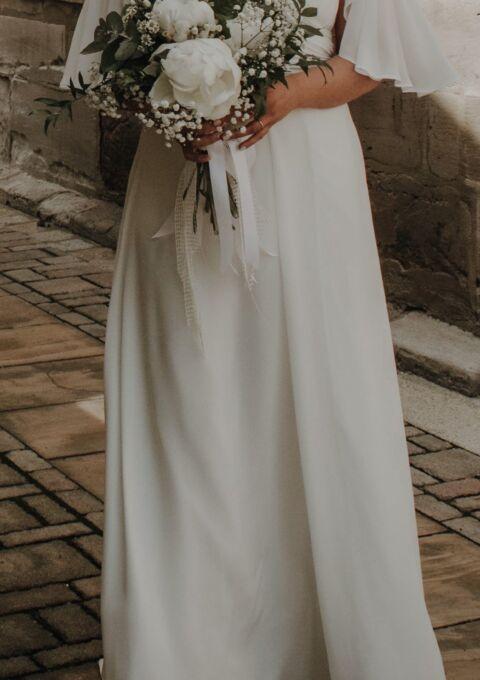 Second Hand Brautkleid | Einzelanfertigung | Standesamt | Gr. 40