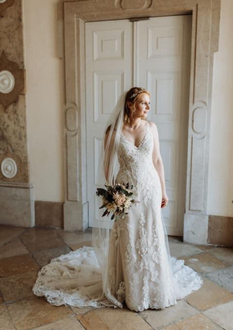 Second Hand Brautkleid | Pronovias Barcelona | Fit and Flare | Gr. 36 | Maßgeschneidert