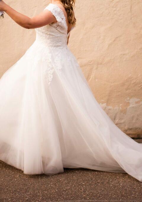 Second Hand Brautkleid | Valérie / Kleemeier | A-Linie | Gr. 40 | Maßgeschneidert