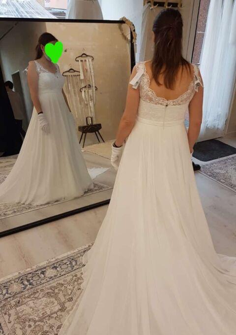 Second Hand Brautkleid | Valérie / Kleemeier | Empire | Gr. 40 | Maßgeschneidert