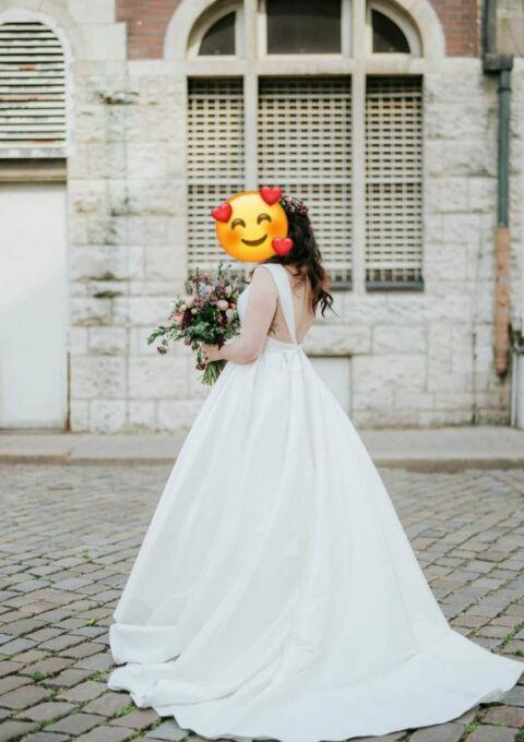 Second Hand Brautkleid | Sincerity Bridal / Justin Alexander | 44155 | A-Linie | Gr. 42 | Maßgeschneidert