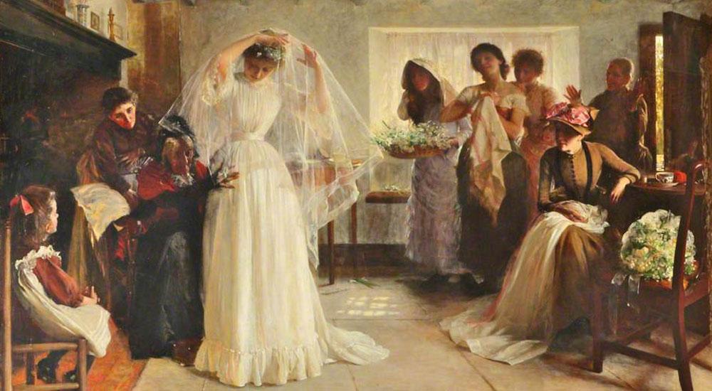 Die Geschichte des Brautkleids – Nicht immer ein Traum in weiß